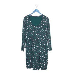 Boden Long Sleeve Green Bud Mabel Jersey Dress